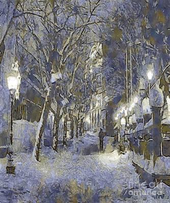 A Night Full Of Snow Original by Dragica  Micki Fortuna