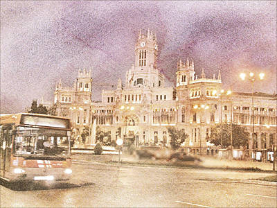 A Night In Madrid  Art Print by Connie Handscomb