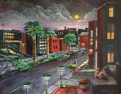 Painting - A Night In Puebla Mexico by Randol Burns