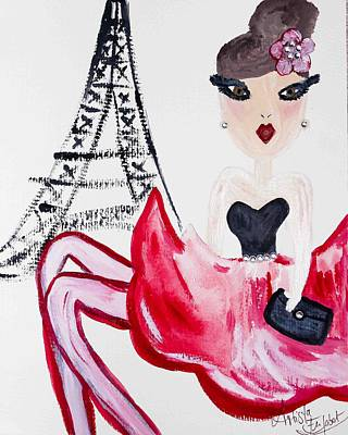 Mixed Media - A Night In Paris by Artista Elisabet