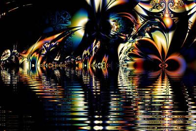Digital Art - A Night On The Water by Kiki Art