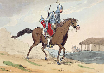 Trot Painting - A Noble Tcherkesse by John Augustus Atkinson