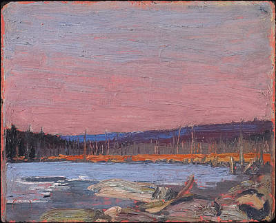 Tom Thomson Painting - A Northern Lake by Tom Thomson