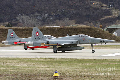 Animals Photos - A Northrop F-5e Tiger Of The Swiss Air by Luca Nicolotti