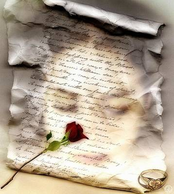 Engagement Ring Digital Art - A Note And She Was Gone by Gun Legler