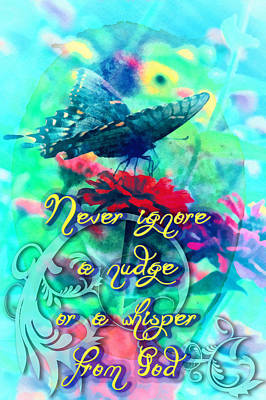 A Nudge Or A Whisper Art Print by Michelle Greene Wheeler