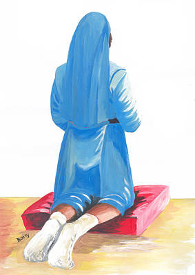 Painting - A Nuns Prayer by Emmanuel Baliyanga