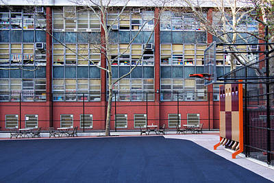 Photograph - A Nyc Schoolyard  by Cornelis Verwaal