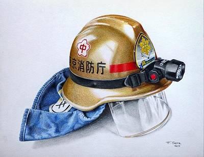 Drawing - A-one Fire Unit by Ferran Serra
