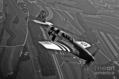 Photograph - A P-51c Mustang In Flight by Scott Germain