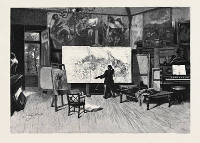 A Painter At Work In His Studio From The Picture By Sir Art Print