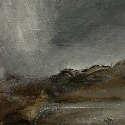 Painting - A Painting A Day 7 Abstract Landscape Painting Original Signed Painting  by Gray  Artus