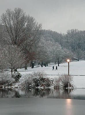 Photograph - A Pair Of Evening Walkers In Winter by Gary Slawsky