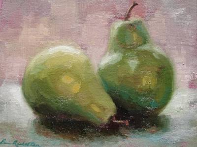 Painting - A Pair Of Pears by Erin Rickelton