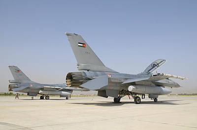 Jordanian Photograph - A Pair Of Royal Jordanian Air Force by Giovanni Colla