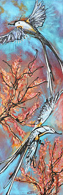 Flycatcher Painting - A Pair Of Scissors  by Jonelle T McCoy