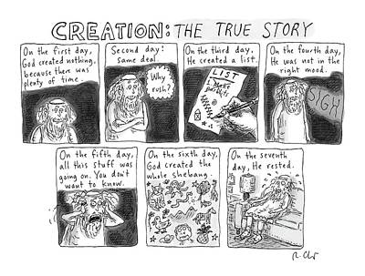 A Panel Called Creation: The True Story Which Art Print