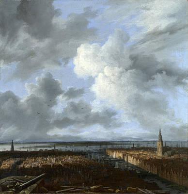 Painting - A Panoramic View Of Amsterdam Looking Towards The Ij by Jacob Isaacksz van Ruisdael