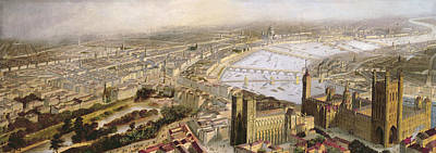 Westminster Abbey Painting - A Panoramic View Of London by English School