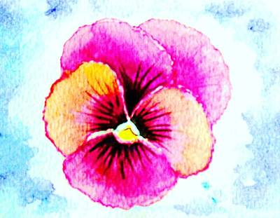 Painting - A Pansy Smile by Hazel Holland