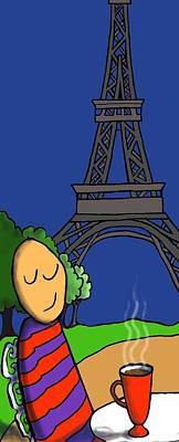 A Paris Art Print by Michelle Berger
