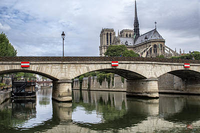 Photograph - A Paris River View by Georgia Fowler