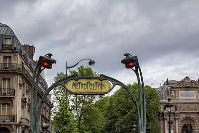 Metro Art Photograph - A Paris Scene by Georgia Fowler