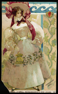 A Parisian Lady Dressed For  The Summer Art Print