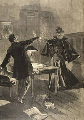 A Parisien Drama, Illustration From Le Print by French School
