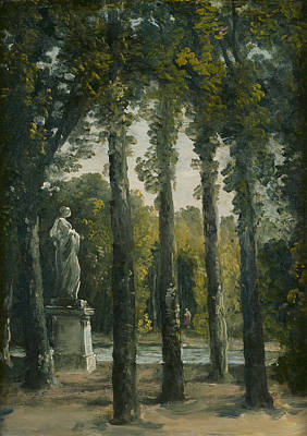Peaceful Scene Painting - A Park by French School