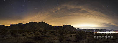 Clouds Over Canyon Photograph - A Partly Coiudy Sky Over Borrego by Dan Barr