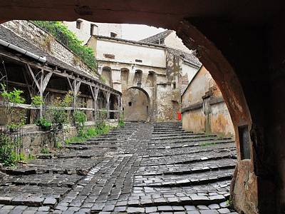 City Lanscape Photograph - A Passageway In Dracula's Birthplace Sighisoara Transylvania by Ion vincent DAnu