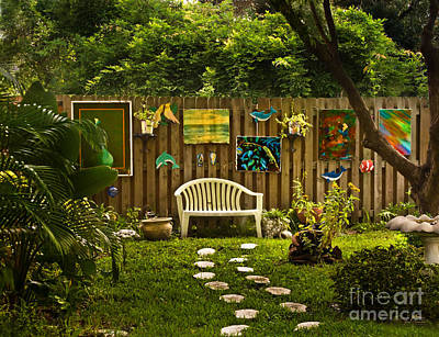 Benches Photograph - A Path To Art In Saint Petersburg Florida by Jim Swallow