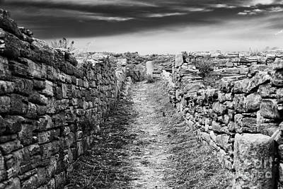 A Path To Delos Island Art Print by John Rizzuto