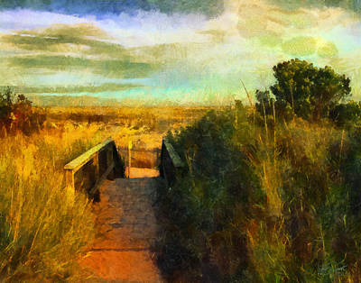 Digital Art - A Path To The Beach by William Sargent