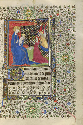 1420 Painting - A Patron Presented To The Virgin And Child Workshop by Litz Collection