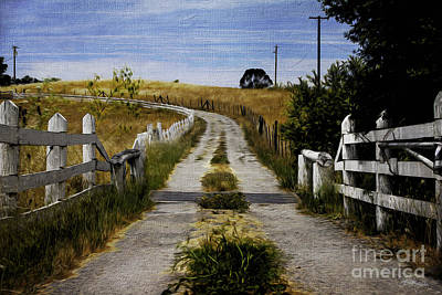 Jacques Digital Art - A Peaceful Path by Jacque The Muse Photography