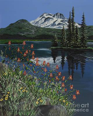 Mt. Bachelor Painting - A Peaceful Place by Jennifer Lake