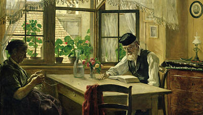 Net Painting - A Peaceful Sunday by Hans Thoma