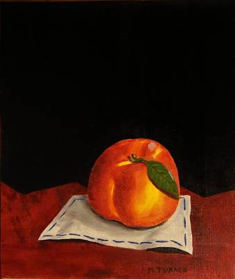 Art Print featuring the painting A Peach by Melvin Turner