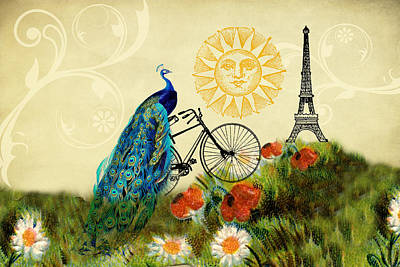 A Peacock In Paris Art Print