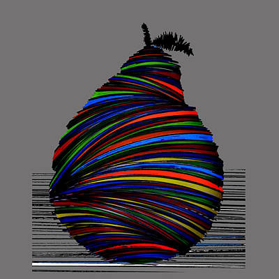 By Singh Painting - A Pear 2004 Grey by Artist Singh