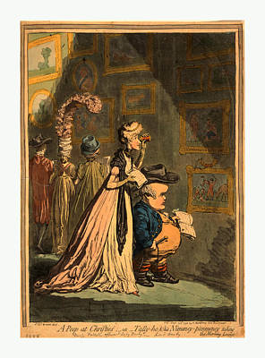 A Peep At Christies Or Tally Ho, And  His Nimeney-pimmeney Print by Litz Collection