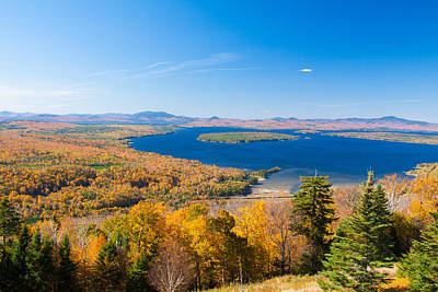 Photograph - A Perfect Autumn Day In Maine by Jeff Folger