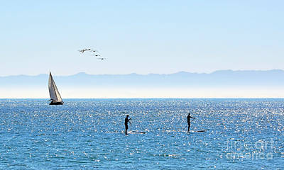A Perfect Santa Barbara Day Art Print