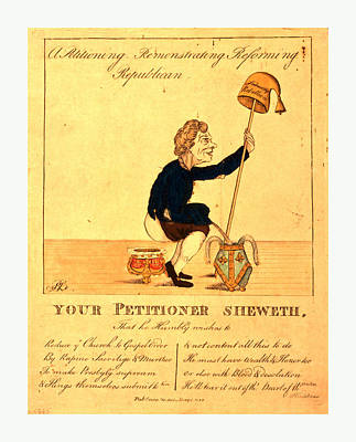 Christian Artwork Drawing - A Petitioning, Remonstrating, Reforming, Republican by English School