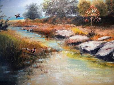Painting - A Pheasant Day by Patti Gordon