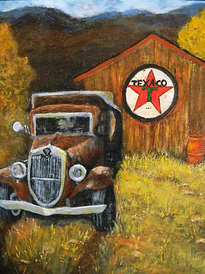 Texaco Sign Painting - A Pickers Dream by Judie White