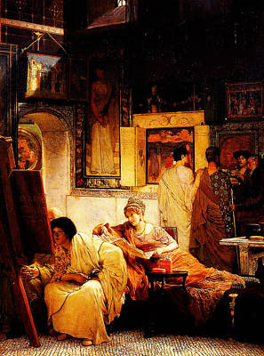 Benjamin Williams Leader Painting - A Picture Gallery By Sir Lawrence Alma Tadema by MotionAge Designs