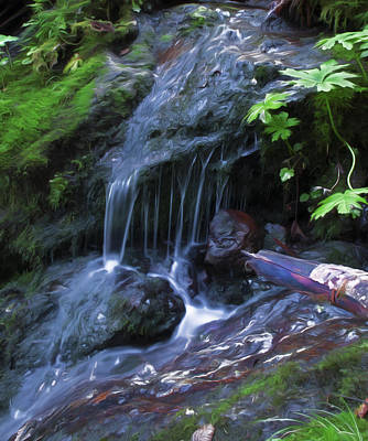 Digital Art - A Picture Of Fresh Spring Run Off. by Timothy Hack